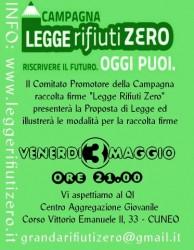 presentazione proposta Legge Rifiuti Zero - campagna raccolta firme @ Q.I - Centro Aggregazione Giovanile | Cuneo | Piemonte | Italia